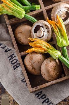 Creamy Mushroom and Zucchini Flower Fettuccine   Chew Town Food Blog