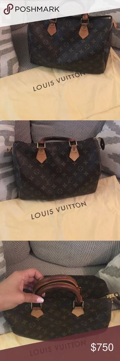 Authentic Louis Vuitton Monogram Speedy 30 💯% Authentic Louis Vuitton Monogram Speedy 30.  Beautiful bag with light wear and smoke free home. Selling because I bought another Speedy.  Comes with dust bag, lock and two keys (box and bag for lock and keys will come with the bag as well).  Feel free to ask any questions or to make an offer ❤️ Louis Vuitton Bags