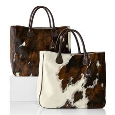 Crafted from the finest natural hide hair, each of our Telluride Handbags have natural variations that make them uniquely yours. With exquisite Italian craftsmanship and a classic modern design, this statement handbag is designed to make every eve… How To Make Handbags, Purses And Handbags, Leather Handbags, Custom Purses, Cowhide Purse, Western Purses, Mark And Graham, Personalized Tote Bags, Leather Handle