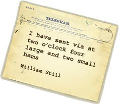 """UNDERGROUND RAILROAD SECRET MESSAGES  