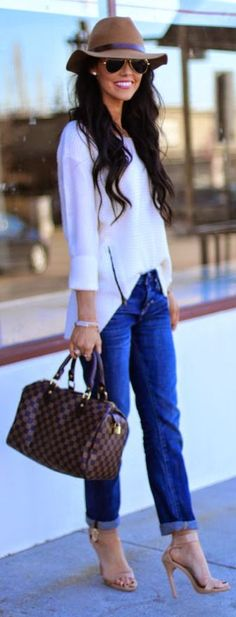 Boyfriend Jeans Outfit - when I'm feeling like a diva!