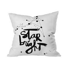 Coolly contemporary and charmingly space-themed, this chic throw pillow is perfect for any stylish stargazer. Decorated with stunning paint splotches and lettering, this Impressionistic Constellations ...  Find the Impressionistic Constellations Throw Pillow, as seen in the Across the Night Sky Collection at http://dotandbo.com/collections/across-the-night-sky?utm_source=pinterest&utm_medium=organic&db_sku=112300