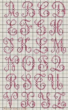 Thrilling Designing Your Own Cross Stitch Embroidery Patterns Ideas. Exhilarating Designing Your Own Cross Stitch Embroidery Patterns Ideas. Alphabet Au Crochet, Crochet Letters, Cross Stitch Alphabet Patterns, Embroidery Alphabet, Cross Stitch Letters, Cross Stitch Charts, Cross Stitch Designs, Embroidery Patterns, Stitch Patterns