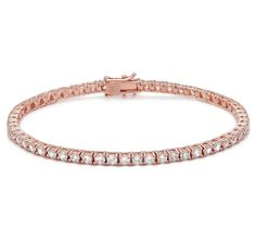 Buy Diamonelle Sterling Silver Rose Gold Plated Tennis Bracelet, Diamonelle and Bracelets from The Shopping Channel, Canada's home shopp. The Shopping Channel, Rose Gold Plates, Pretty In Pink, Tennis, Sterling Silver, Bracelets, Stuff To Buy, Jewelry, Bijoux