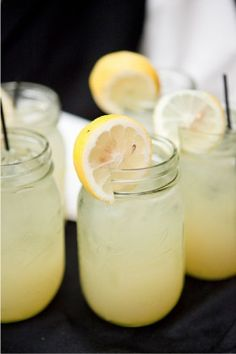 Lemonade in mason jars...and only fresh squeezed will do!