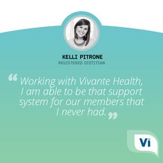 ''When I was diagnosed with celiac disease, I felt isolated and had no knowledgeable support system to help me. Working with Vivante Health, I am able to be that support system for our members that I never had.'' - Kelli Pitrone#Celiac #CeliacDisease #CeliacAwareness #CeliacAwarenessMonth #CareTeam #Support #InvisibleIllness #VivanteHealth #ChronicIllness #SpoonieLife