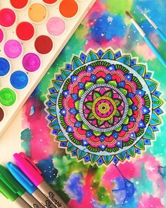 Hey guys!  Another mandala  I loved all of you colour suggestions in my last…