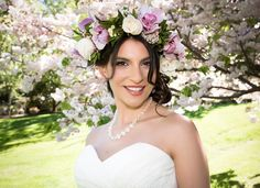 Spring Blossom styled photo shoot Wanaka — Fluidphoto Ruth Brown Spring bride with a wonderful floral crown. Elope Wedding, Post Wedding, Cherry Blossom Wedding, Creative Wedding Ideas, Spring Blossom, Floral Crown, Wedding Photoshoot, Fashion Photo, Wedding Details