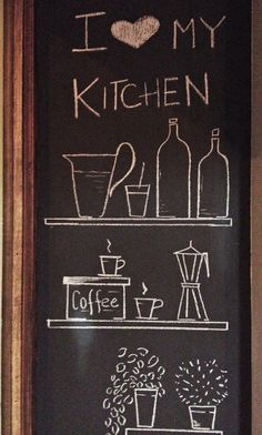 parete lavagna in cucina | eat drink and be merry | pinterest ... - Lavagne Cucina