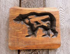 BEAR Eats HIKER Sign-FREE Shipping V-Carved - Rustic Wood. $14.00, via Etsy.