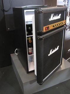 Marshall Amp Mini Fridge. So cool for the Music room