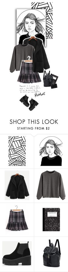 """Edgy #Romwe II"" by juhh ❤ liked on Polyvore featuring Holga, romwe, fashiontrend and Juliajulian"