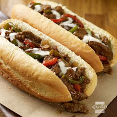 Take the whole family on a quick trip to Philly with these super easy sandwiches. #cheesesteak #philadelphia