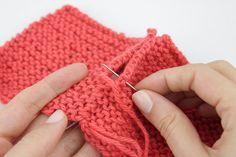 Cómo coser dos piezas de lana. Tutorial con fotos y video para que aprendas a unir las piezas de tu labor. Blog Aprender a Tejer Paca La Alpaca