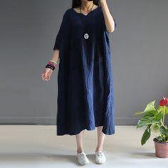 Women summer linen vintage short sleeve loose shirt