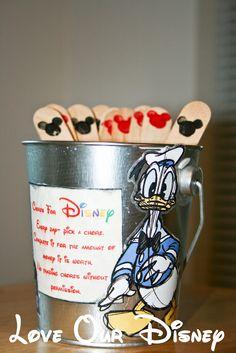 Love Our Disney: Craft Time- Disney Chore Bucket, Pick a chore, Earn money for Disney