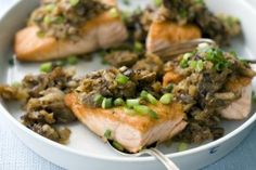 Salmon With Shiitake Hash : Lifestyles