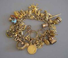 Charm bracelet #amazing #jewelry I've always wanted one just like my Mom had.