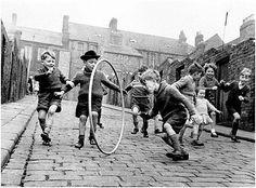 Running through the hoop, Scotswood, Newcastle-1962 photographer: Arthur Steel