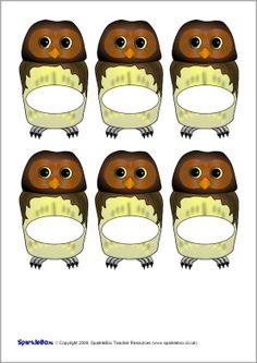 Pupil self-registration owls (SB2490) - SparkleBox