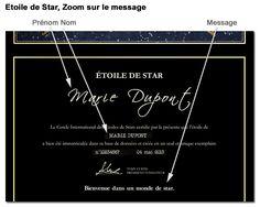 Poster personnalisé Etoile de Star