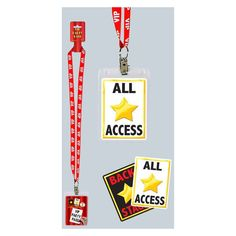 """Show everyone you are a true VIP with their very own party VIP pass! Package includes one VIP Party Pass that has a red plastic neck cord with white lettering that spells out """"""""VIP"""""""". Hollywood Party, Hollywood Birthday Parties, 13th Birthday Parties, Birthday Party Themes, Hollywood Crafts, Birthday Popcorn, Summer Birthday, Theme Parties, Movie Theater Party"""