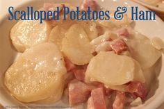 Scalloped Potatoes and Ham Easy Recipes, Easy Meals, Scalloped Potatoes And Ham, Very Hungry, What's Cooking, What To Cook, Household Tips, Kitchen, Cucina
