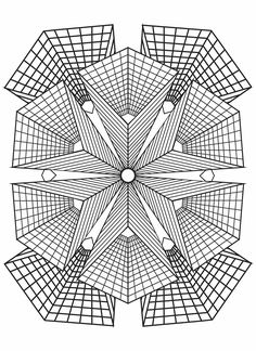 Geometric Coloring Pages, Pattern Coloring Pages, Online Coloring Pages, Printable Adult Coloring Pages, Mandala Coloring Pages, Coloring Book Pages, Coloring Sheets, Geometric Art, Geometric Designs