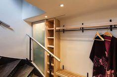 modern walk in closet
