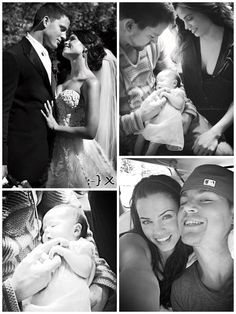 Channing Tatum, Jenna Dewan-Tatum, and Everly Tatum. Channing and Jenna are one of my favorite couples! They are so adorable!