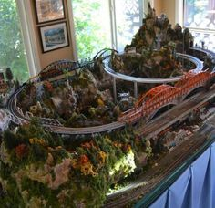 Great little #model #train #layout for your home #modeltrainlayouts #hotrainaccessories