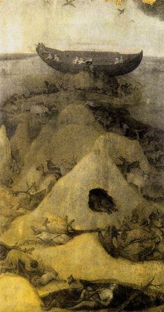 Noah's Ark on Mount Ararat (obverse) - c. 1514 - Hieronymus Bosch (born Jheronimus van Aken, 1450 – 1516)
