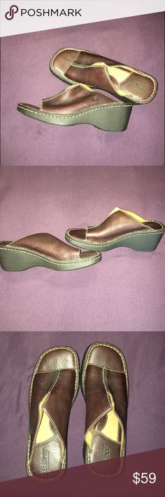 BORN women's  sandals BORN extremely comfortable slip on women's sandals with a small platform heel. Gently worn, in great condition. Born Shoes Sandals