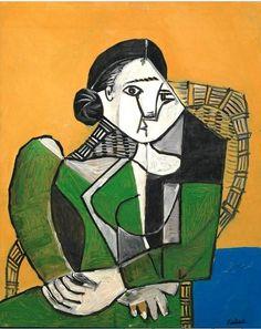 Pablo Picasso - Femme assise dans un fauteuil, 1953
