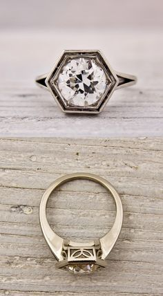 shawna European Cut Art Deco Ring  →JEWELRY