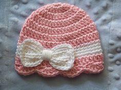 Crochet Baby Hat Newborn Baby Girl hat Baby by crochethatsbyjoyce