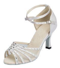 619617ce7a5774 LOSLANDIFEN Women s Satin Flats Elegant Round Toe Wedding Ballet Bridal  Shoes(9872-01B44
