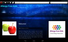 Welcome to Allergy Free Kids: our new look website Allergy Free, Types Of Food, Allergies, Kids Meals, Website