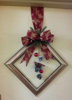 picture frame wreath More