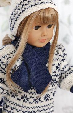 Norwegian sweater knitting patterns for 18 american girl dolls