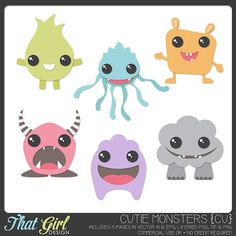 FREE Monster Templates (PSD & TIF) | That Girl Design