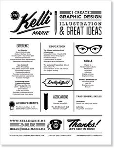 graphic #design resume by Kelli Marie