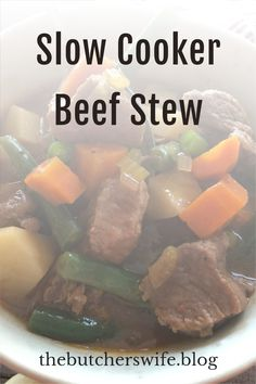 Easy hearty beef stew in the slow cooker! Fall Recipes, Holiday Recipes, Hearty Beef Stew, Fast Easy Meals, Slow Cooker Beef, Winter Food, Freezer Meals, Soups And Stews, Cooking Time
