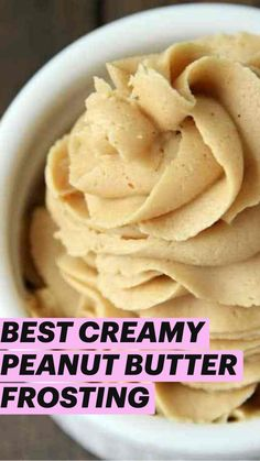 Winter Desserts, Desserts To Make, Delicious Desserts, Yummy Food, Frosting Recipes, Cupcake Recipes, Cupcake Cakes, Peanut Butter Frosting, Creamy Peanut Butter