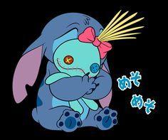 Stitch & Scrump Lilo Stitch, Cute Stitch, Disney Stitch, Disney Nerd, Arte Disney, Disney Drawings, Cartoon Drawings, Stitch And Angel, Cartoon Stickers