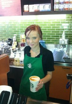 From Starbucks on Twitter: Brand new apprentice Leah (age 18) crafts a perfect latte #Madebyapprentices