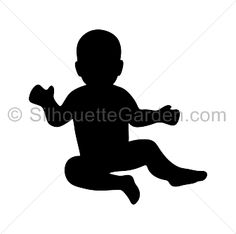 Baby silhouette clip art. Download free versions of the image in EPS, JPG, PDF, PNG, and SVG formats at http://silhouettegarden.com/download/baby-silhouette/