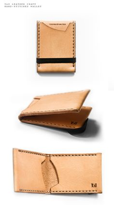 Young Leather Craft Hand Stitched Wallet - Sean A. Metcalf