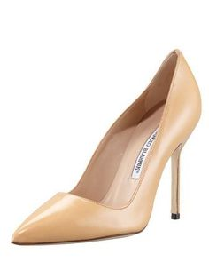 BB+Pointed-Toe+Pump,+Camel+by+Manolo+Blahnik+at+Neiman+Marcus.