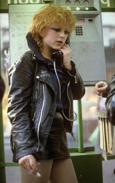 """Punk Girl"", photo byDominiquevan Rossum,Holland 1982"